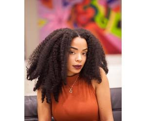 beautiful hair, long hair, and natural hair image