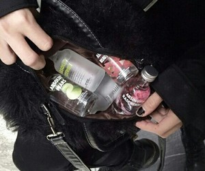 alcohol, vodka, and black image