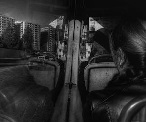 b&w, woman, and road image