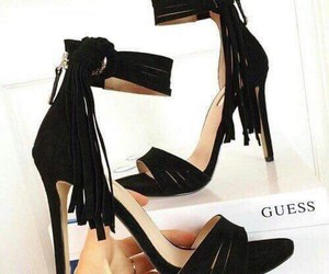 guess, black, and shoes image