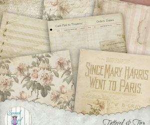 ephemera, scrapbook paper, and junk journal image