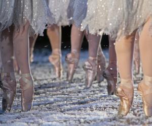 ballet, ballerina, and snow image
