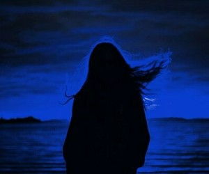 blue, girl, and night image
