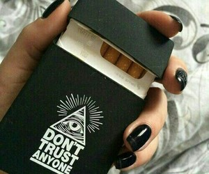 black, cigarette, and grunge image