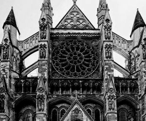 architecture, gothic, and black and white image