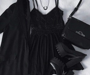 black, fashion, and dress image
