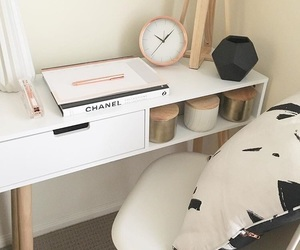 chanel, minimalist, and study corner image