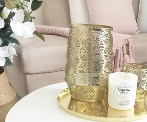 candle, gold, and home image