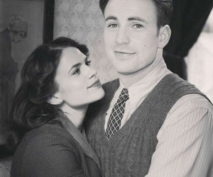 peggy carter, captain america, and steve rogers image