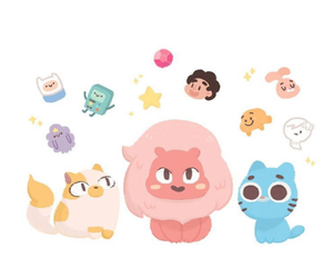 gumball, aventure time, and steven universe image