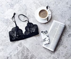 coffee, bra, and style image