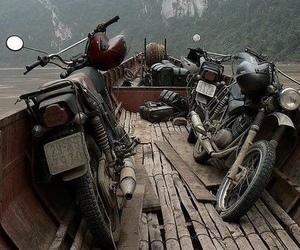 motorcycle, motorbike, and travel image