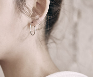 ear, earring, and stud image