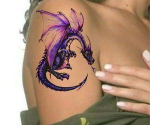 art, tatoo, and draco image