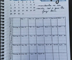 agenda, lettering, and planner image