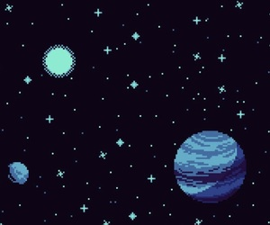 pixel and space image