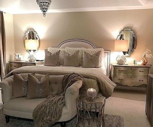 bedroom, home, and home decorating image