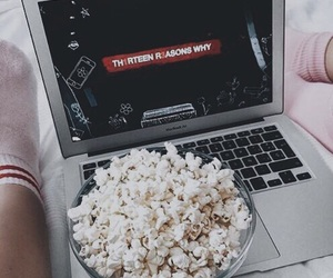 netflix, 13 reasons why, and popcorn image