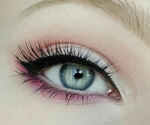 blue eye, make up, and makeup image