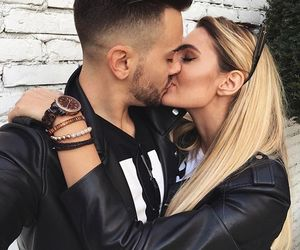 couple, kiss, and love image