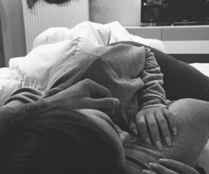 black and white, cuddles, and goals image