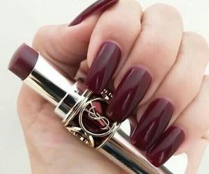 nails, lipstick, and beauty image
