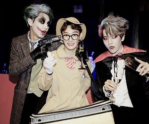 Chen, exo, and Halloween image