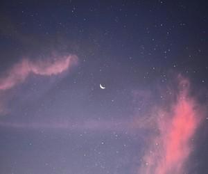 night, purple, and sky image