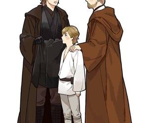 Anakin Skywalker, luke skywalker, and obi wan kenobi image