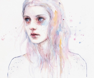 girl, art, and agnes cecile image