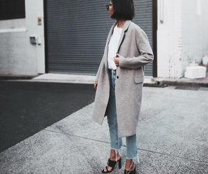 coat, fashion, and heels image