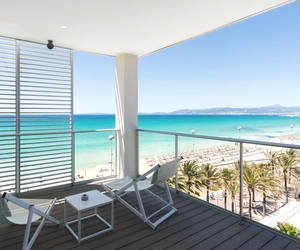 balcony, beach, and luxury image