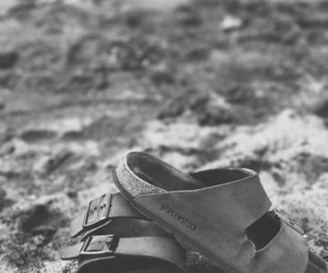 b&w, birkenstock, and photography image