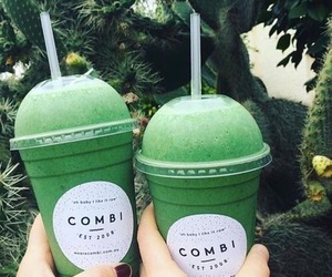 green, drink, and smoothie image