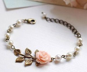 bracelet, accessories, and rose image