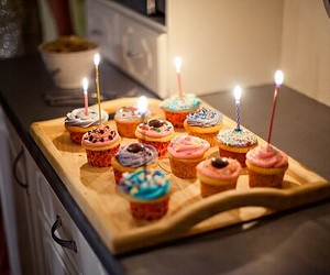 cupcake, birthday, and food image