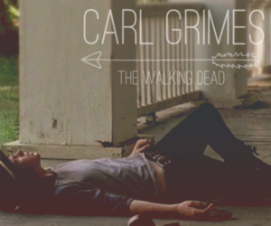 walking dead, twd, and carl grimes image