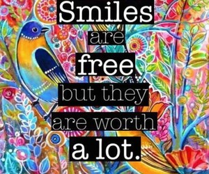 smile, free, and quotes image