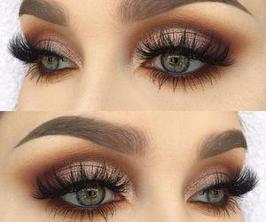 makeup, beautiful, and eye image