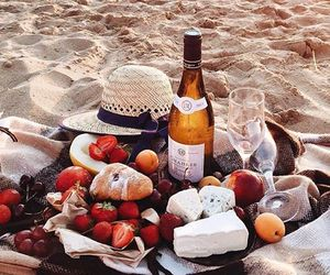 beach, picnic, and food image