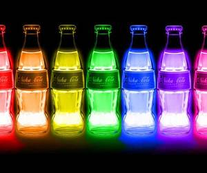colors, neon, and coca cola image