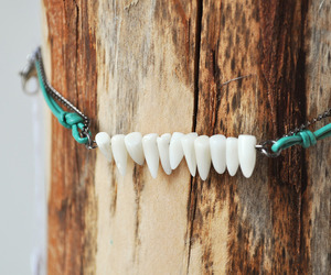 coral, stone paper feather, and teeth image