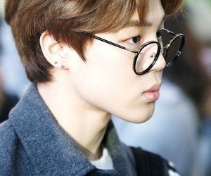 jimin, bts, and glasses image