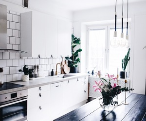 decor, kitchen, and simplicity image