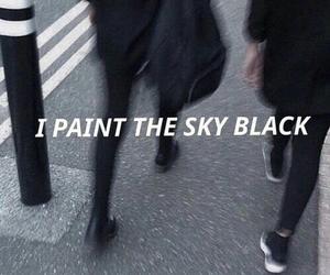 black, grunge, and sky image