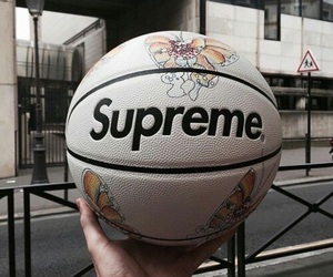 theme, supreme, and Basketball image