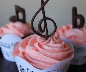 cupcake, music, and pretty image