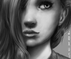 art, digital, and hair image