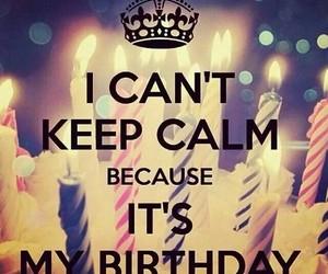 birthday, cake, and keep calm image