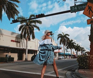summer, blonde, and fashion image